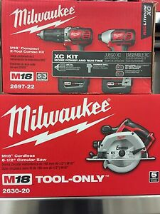 Milwaukee  M18 hammer drill, impact driver and circular saw