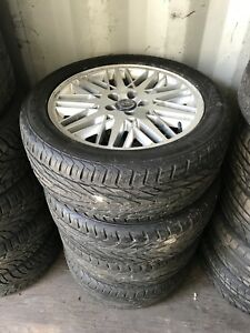 """4 volvo mags 17"""" General exclaim uhp 225/50R17"""