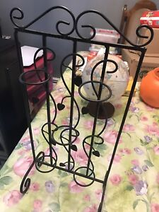 Iron candle holder