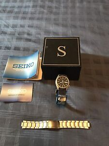 Seiko Men's Small Face Watch Automatic Clothe Metal New