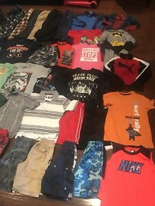 Size boy 7/8 clothes and 2 pairs shoes winter and dc runners