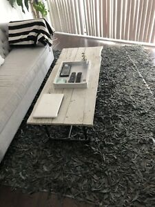 Grey Leather Rug 6x9
