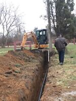 Excavating and grading service