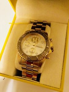 Invicta Chronograph Diver Style 18K Gold Watch