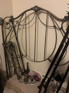 Wrought iron bed fram