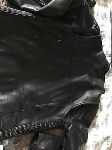 Motorcycle leather Jacket 2XL