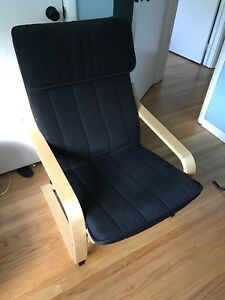 IKEA Poang Chair - Black cushion