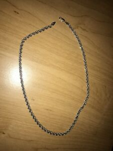 10k white gold chain (8.8 grams)