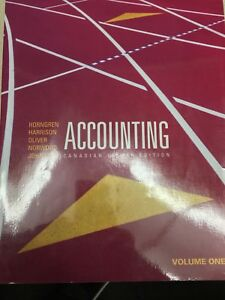 Accounting Volume 1 Canadian Eighth edition