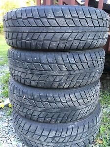 """4 235/70-16"""" winter studded tires"""