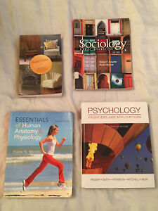 Assorted Psychology, English, Sociology and Anatomy textbooks