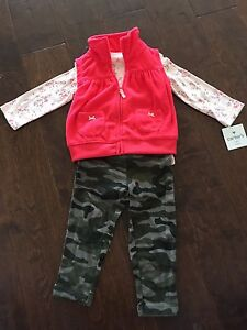 Carter's 3pc fall set (12m) - with tags
