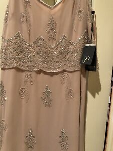 ADRIANNA PAPELL BLUSH SEQUIN DRESS