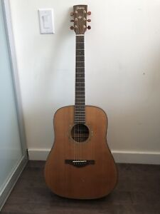 Ibanez Artwood 3050 LG Acoustic Guitar. Travel case and Capo.