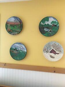 Les 4 assiette mural des saisons de Vivaldi