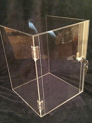 Acrylic Display Case 10 X 10 X 16.5 Acrylic Counter Top Revolve Avail