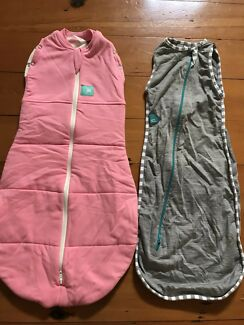 Pink ergo cocoon 0-3 months grey love to dream small