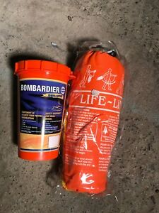 Bombardier Sea-Doo Safety Equipment can and life line rope