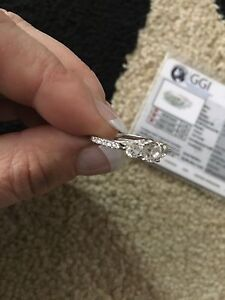 Beautiful engagement ring plus wedding ring