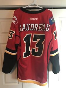 Flames Gaudreau Signed jersey