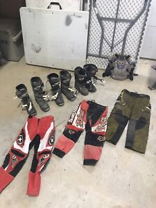 Kids dirtbike boots/pants/chest protector