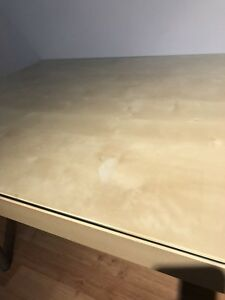 IKEA table with glass top