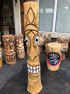 Tiki bar carving
