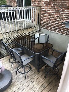 Bar Table with Four Chairs