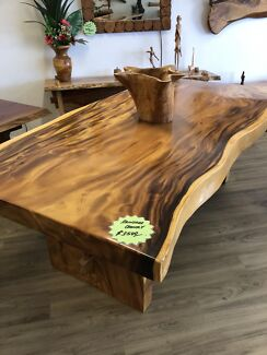 Timber Slab Table Dining Tables Gumtree Australia Free