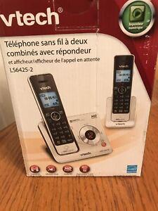 2 téléphone sans fils combinés avec répondeur