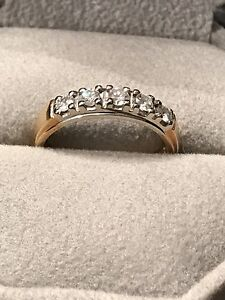 Diamond ring with 18kt gold