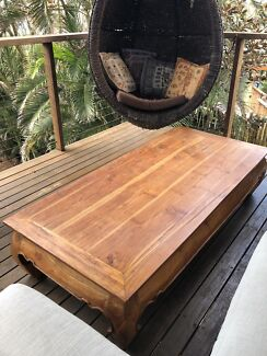 Balinese/ Thai Opium leg coffee table