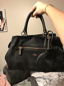 GUESS tenley black satchel