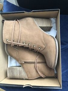 Aldo Brown Chunky Heels Ankle Boots