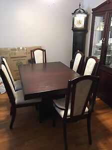 Dark Cherry Solid Wood Dining Set