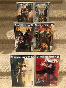 DC Comics Trinity Rebirth (First story arc) Variant Covers #1-6