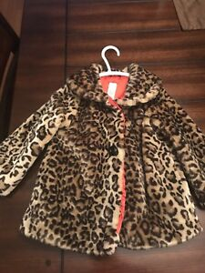 Girls size 3 faux fur coat