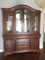 Gorgeous Dining Set (China cabinet, Table and 6 chairs)