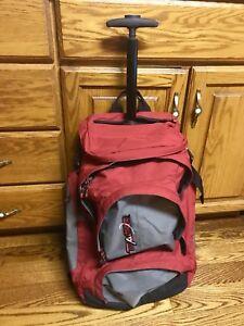 Hybrid Luggage backpack - 2 wheel roller travel pack