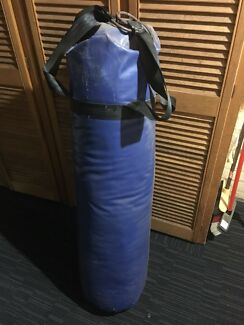 Boxing bag with gloves
