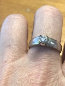 Diamond ring in bezel setting
