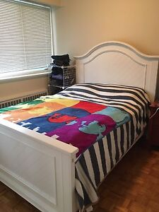 Double Bed, Boxspring and Pillow-Top Mattress