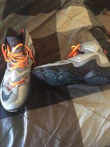 Nike Lebrons men's basketball shoes size 13