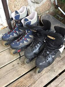 2 pairs of rollerblades