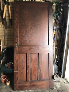 Solid oak door from 100 yr old house