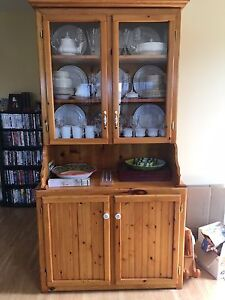 Handmade Solid Pine China Cabinet