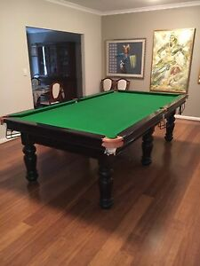 9x5 pool table, 1 inch slate base, with billiard and snooker balls South Perth South Perth Area Preview