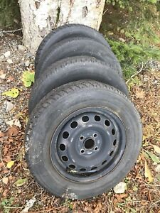 14 Inch Steel Wheels and Winter Tires