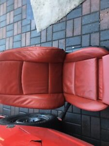 BMW front m red seats leather oem