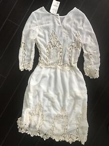 New with tags lace dress cover up summer women's white small